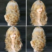 Hot Fashion Womens Long Wavy Curly Hair Full Wigs Girls Cosplay Party Lady Wig