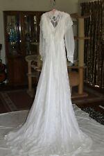 1970's circa antique Wedding Dress  size 6-8