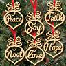 6PCS Christmas Tree Wooden Hollow Hanging Ornaments Decoration Xmas Gift CJ