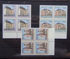 Luxembourg 1993 Historic Houses set in Block x 4 MNH