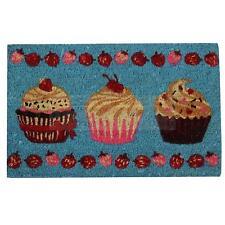 Kokos Fußmatte Cupcake Muffin Türmatte 40 x 60 cm Fußabtreter Schmutzfangmatte