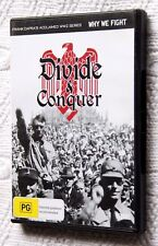 DIVIDE AND CONQUER: WHY WE FIGHT (DVD) R-4, LIKE NEW, FREE POST IN AUSTRALIA