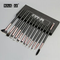 MAAMGE Pro Makeup Brushes Set 12 pcs/lot Eye Shadow Blending Eyeliner Eyelash