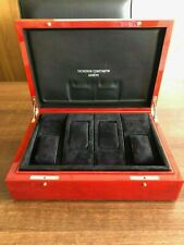 VACHERON CONSTANTIN COLLECTORS GREEN AND RED LARGE WATCH BOX - RARE