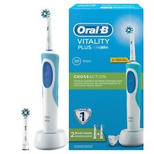 Oral-B Vitality Plus CrossAction Toothbrush 2 Brush Heads Electric Rechargeable
