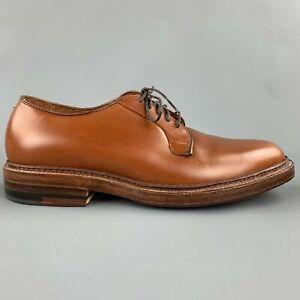 ALDEN Bootmaker Edition Size 6.5 Tan Leather 9528 Lace Up Shoes