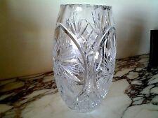 Genuine Hand Cut LEAD Crystal Vase, 9.5 H, Poland