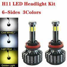 6-sides H8 H9 H11 LED Headlight Kit 120W 12000LM Bulbs High Low Beam HID 6000K