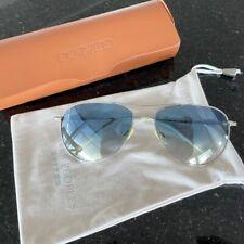 Oliver Peoples Benedict Aviator Sunglasses 59-16-130 Silver Blue Gradient OV1002