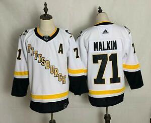 Pittsburgh Penguins Men's Evgeni Malkin #71 White 2020-21 Reverse Retro Jersey