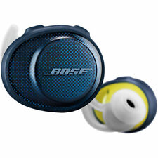 Bose SoundSport Free Bluetooth Wireless In-Ear Headphones Earbuds - Navy/Citron