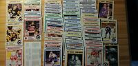 1991 Kraft Hockey Card Lot: Lemieux,Jagr,Messier,Clarke, RED BACKS Poor Cond't