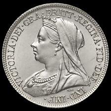 1898 Queen Victoria Veiled Head Silver Shilling, A/UNC