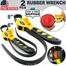 2 Pc Adjustable Rubber Strap Wrench Set 500&600mm Oil Filter Car Truck Boat Home