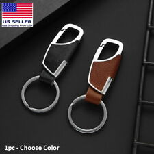 Men's & Women's Fashion Style Leather Clip Keychain Car Key Ring Fob Holder Gift