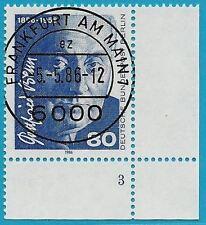 Berlin aus 1986 gestempelt MiNr.760 Ecke unten rechts- Gottfried Benn!