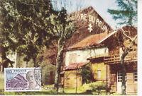 Carte Postale 1er jour 1975 Le Théâtre du Peuple à Bussang