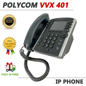 Polycom VVX 401 VoIP Business Media Phone PoE