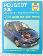 PEUGEOT 206 1998 ~ 2001 PETROL & DIESEL HAYNES OWNERS WORKSHOP MANUAL 3757
