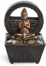 Tranquil Buddha Tabletop LED Fountain Dual Power