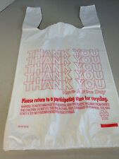 T-Shirt Thank You Plastic Grocery Store Shopping Carry Out Bag 1000CT Recy ///