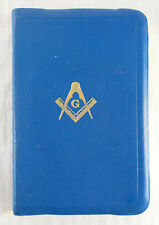 Holy Bible Masonic Edition Temple Illustrated 1940 Genuine Morocco Leather KJV
