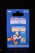 NEW Walt Disney World 2015 Marathon Pin 13.1 mile Half Marathon Donald Duck