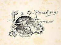 ANTIQUE RARE BOOK. P&O Pencillings W. W. Lloyd ,London 1891 ,Perfect Condition.