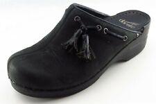 Dansko Size 38 Medium (B, M) Black Mules Shoes Leather Women