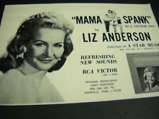 LIZ ANDERSON Mama Spank on RCA Victor original 1967 music biz promo advert