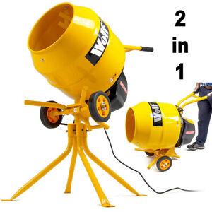 Wolf Electric Cement Mixer Portable Mortar Plaster Concrete Belle Drum 550W 135L