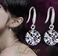 1 Pair Fashion Women bridal Silver Ear Hook Crystal Rhinestone Earring Jewellery