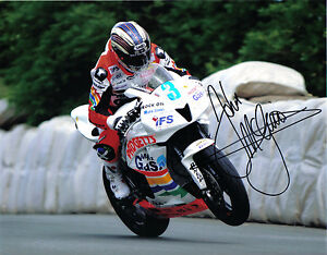 John McGuinness - 2008 Isle of Man TT Autographed 10 x 8 Picture.