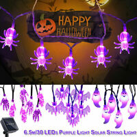 6.5M 30 LED Solar String Light Halloween Outdoor Garden Patio Party Decor Best