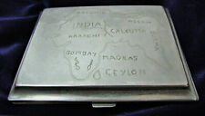 WW2 Trench Art Style Engraved Cigarette Case BURMA 1945 - 107g - 10cm X 8cm