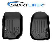 2007-2013 Jeep Wrangler SMARTLINER Custom Fit Floor Mats Liners 1st Row Black