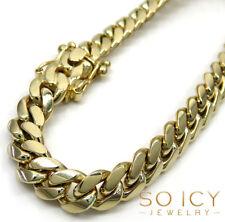 "45 Grams 8mm 8.50"" Mens Ladies 14k Yellow Real Gold Miami Cuban Curb Bracelet"