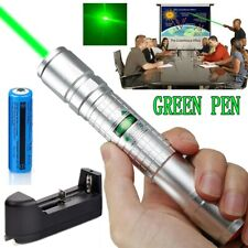 New Listing900Miles 305 Green Teaching Laser Pointers Pen 532nm Visible Lazer+18650+Charger