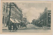BROCK STREET - WHITBY - ONTARIO - LOOKING SOUTH - OLD CAR - STREET VIEW - CANADA