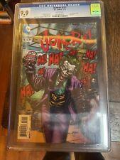 Batman #23.1 (Joker #1). 3D Cover. CGC 9.9. MINT. White Pages. Kubert.