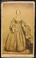 CIRCA 1880 CABINET CARD~PHOTOGRAPHER/ D. CLARK, NEW BRUNSWICK, NJ~Women in Dress