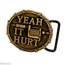 Bronze Yeah it Hurt Tattoo Artists Ink Gun Belt Buckle to fix to own belt New