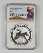 MS69 2011-P Australia 1 Dollar - Silver Kookaburra - Graded NGC *359