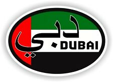 DUBAI COUNTRY CODE OVAL FLAG STICKER bumper decal car bike tablet