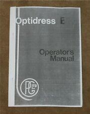 Jones & Shipman Grinders Optidress 'E' Manual