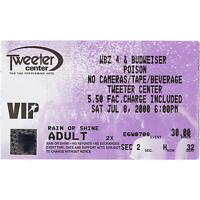 POISON & SLAUGHTER & DOKKEN & CINDERELLA Concert Ticket Stub 7/8/00 MANSFIELD MA