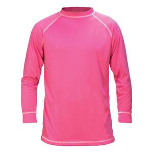 Adult L. Manbi pink thermal top. Ski base layer.