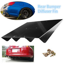 "Universal 22""x 19.3""ABS Rear Bumper Lip 4Fins Diffuser Under Rear bumper Screws"