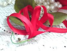4 YARDS BUCILLA  7mm RED 100% Silk Ribbon Vintage French Doll Dress Trim