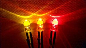 24V Flackerlicht 3x 5mm LED gelb, orange, rot - Brandflackern, brennendes Haus